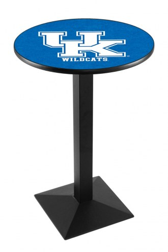 """Kentucky Wildcats """"UK"""" Black Wrinkle Pub Table with Square Base"""