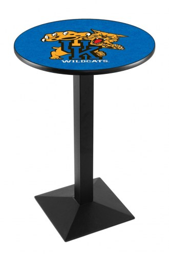 Kentucky Wildcats Black Wrinkle Pub Table with Square Base
