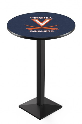 Virginia Cavaliers Black Wrinkle Pub Table with Square Base