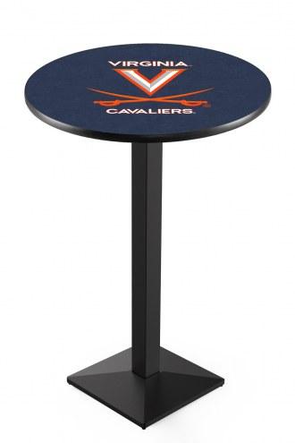 Virginia Cavaliers Black Wrinkle Pub Table with Square Base