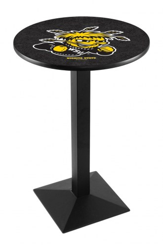 Wichita State Shockers Black Wrinkle Pub Table with Square Base