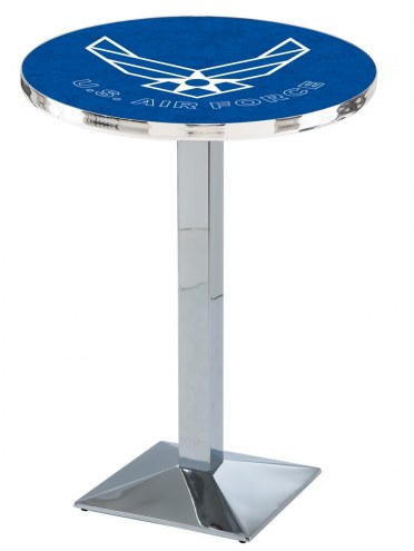 Air Force Falcons Chrome Bar Table with Square Base