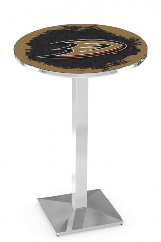 Anaheim Ducks Chrome Bar Table with Square Base