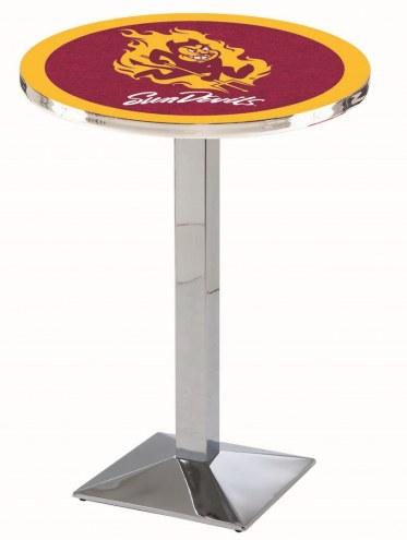 Arizona State Sun Devils Chrome Bar Table with Square Base