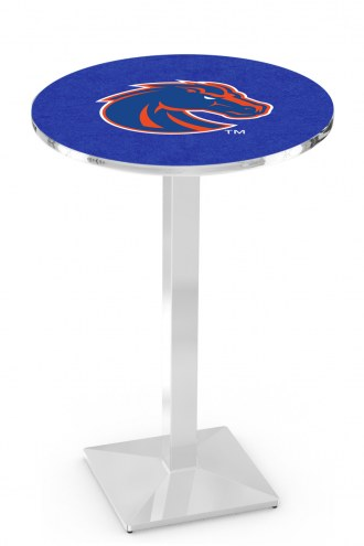 Boise State Broncos Chrome Bar Table with Square Base