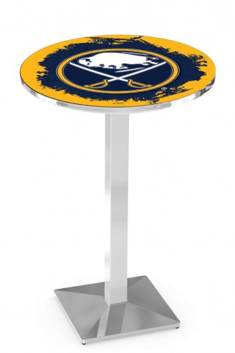 Buffalo Sabres Chrome Bar Table with Square Base