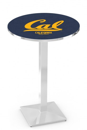 California Golden Bears Chrome Bar Table with Square Base