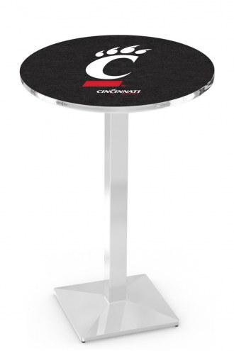Cincinnati Bearcats Chrome Bar Table with Square Base