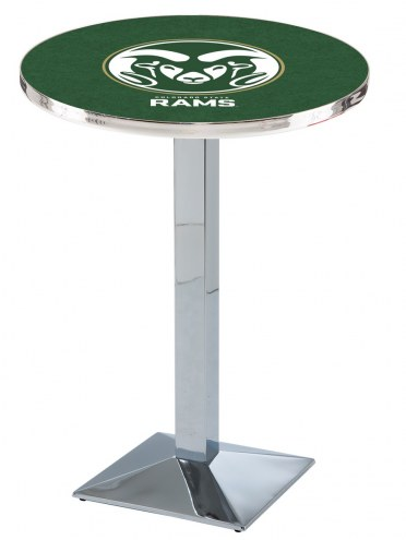 Colorado State Rams Chrome Bar Table with Square Base