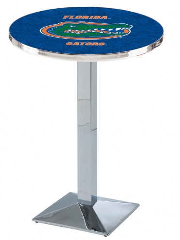 Florida Gators Chrome Bar Table with Square Base