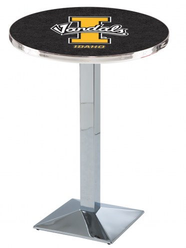 Idaho Vandals Chrome Bar Table with Square Base