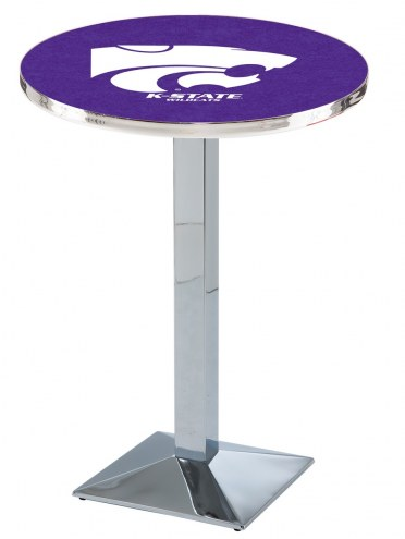 Kansas State Wildcats Chrome Bar Table with Square Base