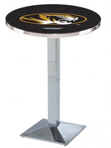 Missouri Tigers Chrome Bar Table with Square Base