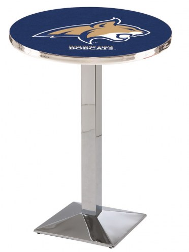 Montana State Bobcats Chrome Bar Table with Square Base