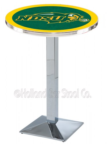 North Dakota State Bison Chrome Bar Table with Square Base