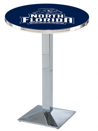 North Florida Ospreys Chrome Bar Table with Square Base
