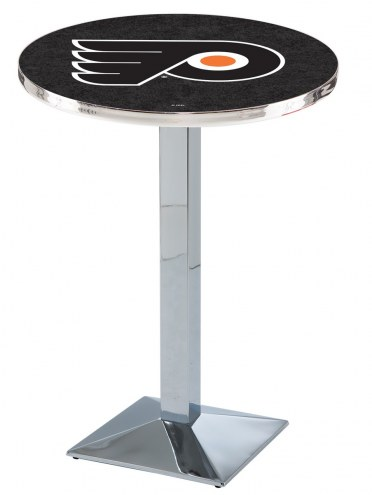 Philadelphia Flyers Chrome Bar Table with Square Base