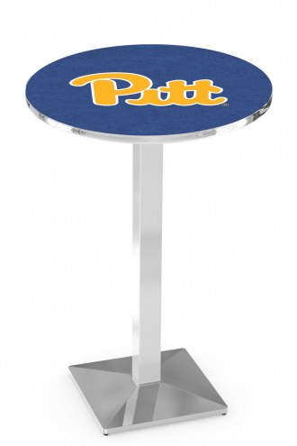 Pittsburgh Panthers Chrome Bar Table with Square Base