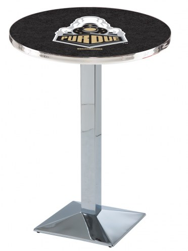 Purdue Boilermakers Chrome Bar Table with Square Base