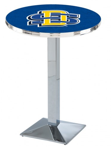South Dakota State Jackrabbits Chrome Bar Table with Square Base