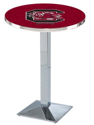 South Carolina Gamecocks Chrome Bar Table with Square Base