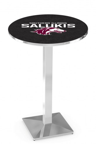 Southern Illinois Salukis Chrome Bar Table with Square Base