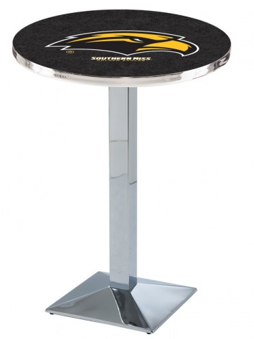 Southern Mississippi Golden Eagles Chrome Bar Table with Square Base