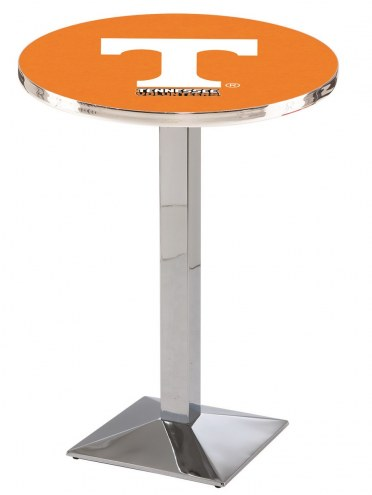 Tennessee Volunteers Chrome Bar Table with Square Base