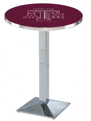 Texas A&M Aggies Chrome Bar Table with Square Base