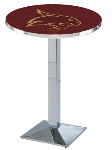 Texas State Bobcats Chrome Bar Table with Square Base