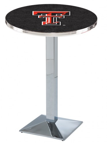 Texas Tech Red Raiders Chrome Bar Table with Square Base