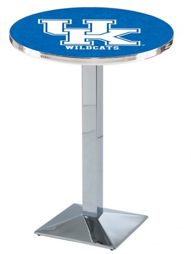 """Kentucky Wildcats """"UK"""" Chrome Bar Table with Square Base"""