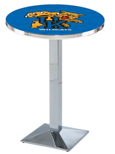 Kentucky Wildcats Chrome Bar Table with Square Base