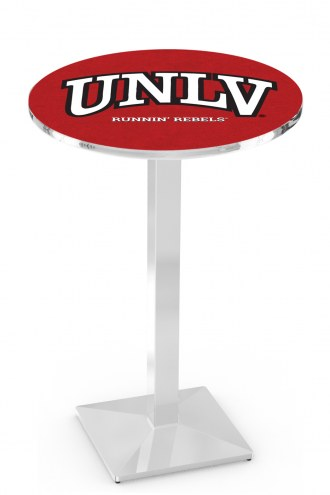 UNLV Rebels Chrome Bar Table with Square Base