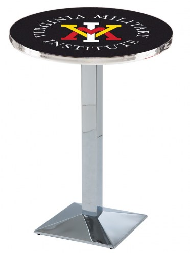 Virginia Military Institute Keydets Chrome Bar Table with Square Base