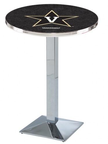 Vanderbilt Commodores Chrome Bar Table with Square Base