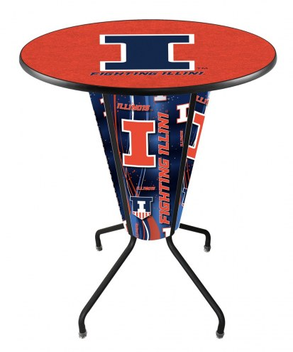 Illinois Fighting Illini Indoor/Outdoor Lighted Pub Table