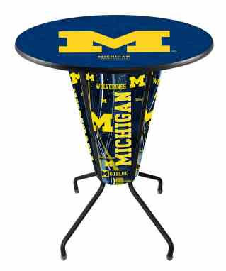 Incredible Michigan Wolverines Indoor Outdoor Lighted Pub Table Gmtry Best Dining Table And Chair Ideas Images Gmtryco