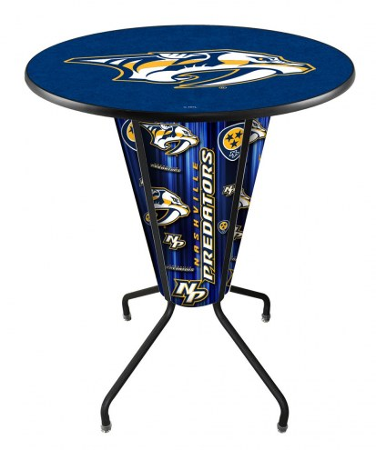 Nashville Predators Indoor Lighted Pub Table