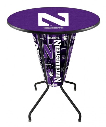 Northwestern Wildcats Indoor/Outdoor Lighted Pub Table