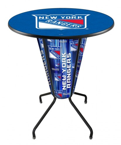 New York Rangers Indoor Lighted Pub Table