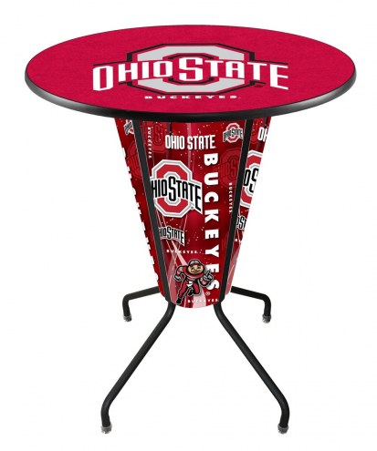 Ohio State Buckeyes Indoor/Outdoor Lighted Pub Table