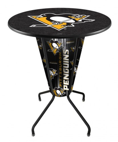 Pittsburgh Penguins Indoor/Outdoor Lighted Pub Table