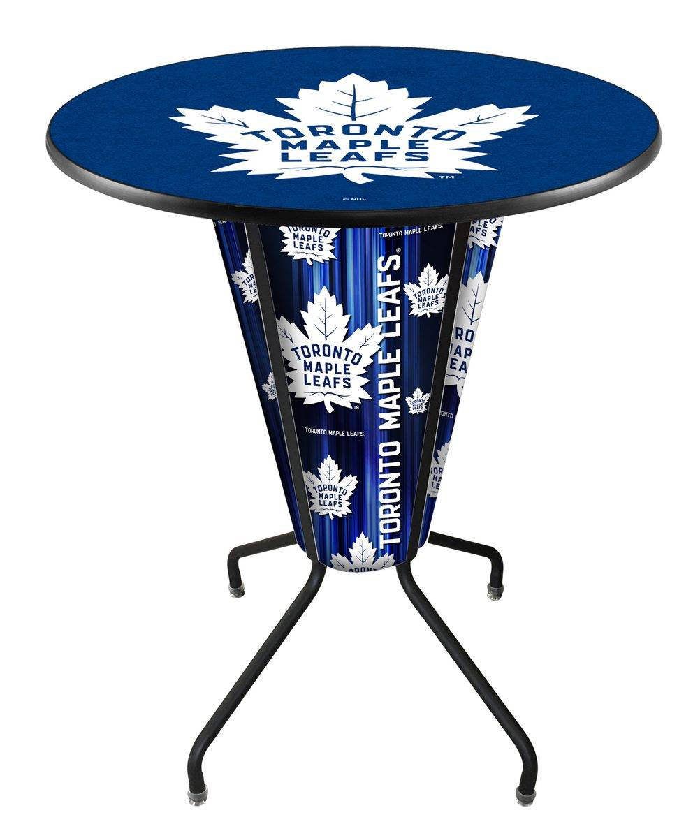 Toronto maple leafs indooroutdoor lighted pub table with its all weather design the toronto maple leafs indooroutdoor lighted pub table is suitable for the the deck patio or fan cave watchthetrailerfo