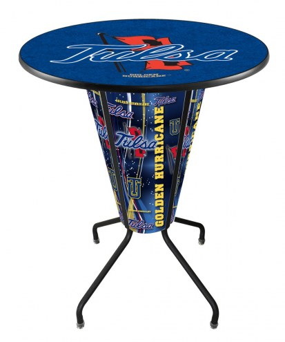 Tulsa Golden Hurricane Indoor Lighted Pub Table