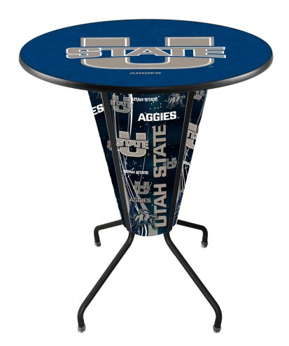 Utah State Aggies Indoor/Outdoor Lighted Pub Table