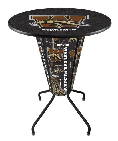 Western Michigan Broncos Indoor Lighted Pub Table
