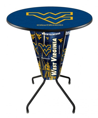 West Virginia Mountaineers Indoor/Outdoor Lighted Pub Table