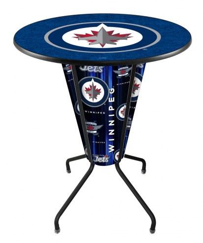 Winnipeg Jets Indoor Lighted Pub Table