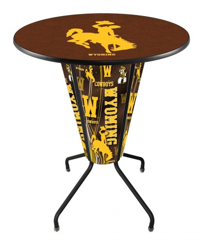 Wyoming Cowboys Indoor/Outdoor Lighted Pub Table